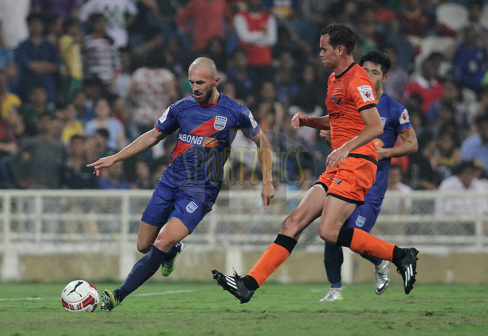 Jan Stohanzl of Mumbai City FC on the attack during match 22 of the Hero Indian Super League between Mumbai City FC and Delhi Dynamos FC City held at the D.Y. Patil Stadium, Navi Mumbai, India on the 5th November.<br /> <br /> Photo by:  Vipin Pawar/ ISL/ SPORTZPICS