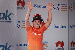 Stage winner, Chloe Hosking (AUS) at Stage 1 of 2020 Santos Women's Tour Down Under, a 116.3 km road race from Hahndorf to Macclesfield, Australia on January 16, 2020. Photo by Sean Robinson/velofocus.com