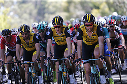 January 17, 2018 - Glenelg, AUSTRALIA - Dutch Robert Gesink of Team LottoNL-Jumbo in action at stage 3 of the Tour Down Under cycling race, 120,5km from Glenelg to Victor Harbor, Thursday 18 January 2018 in Australia. The stage is shortened because of the extreme temperatures that are expected in Western Australia on Thursday. This years edition of the race is taking place from January 16th to January 21st...BELGA PHOTO YUZURU SUNADA. (Credit Image: © Yuzuru Sunada/Belga via ZUMA Press)