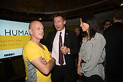 STEVE HILTON; Jeremy Hunt and wife Lucia Guo,, Launch of ' More Human',  Designing a World Where People Come First' by Steve Hilton. Party held at Second Home in Princelet St, off Brick Lane, London. 19 May 2015.