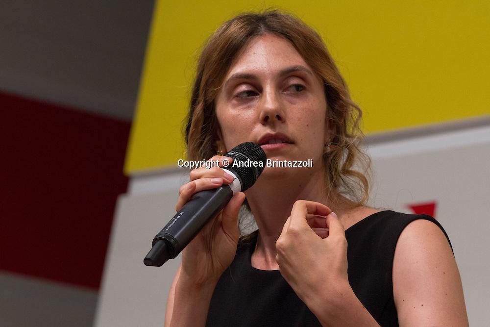 Bologna 04 Settembre 2014 - Festa de L'Unità. Mille giorni per il futuro - Dibattito: Sfida a burocrazia e sprechi. Nelle foto Marianna Madia