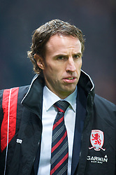 MANCHESTER, ENGLAND - Monday, December 29, 2008: Middlesbrough's manager Gareth Southgate during the Premiership match at Old Trafford. (Photo by David Rawcliffe/Propaganda)