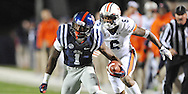 Ole Miss' wide receiver Laquon Treadwell (1) is chased by Auburn Tigers' defensive back Jonathon Mincy (6) at Vaught-Hemingway Stadium in Oxford, Miss. on Saturday, November 1, 2014. Auburn won 35-31.(AP Photo/Oxford Eagle, Bruce Newman)