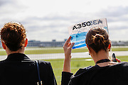 European aviation giant Airbus's next-generation A350 plane takes off on its first test flight  today  in Toulouse, France
