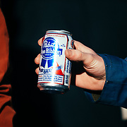 PBR is the beer of choice for the Gelande Quaffing Championships.