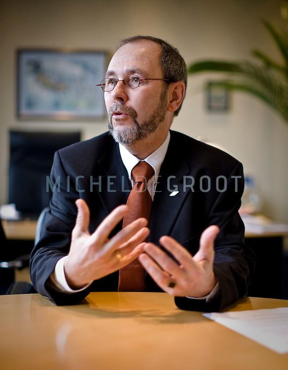 ... van Harten, directeur van DOW Chemicals in Hoek (Terneuzen), The Netherlands op 27 January, 2009.  (Photo by Michel de Groot)