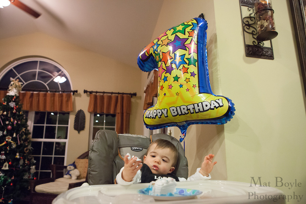 Luca's 1st Birthday on Saturday December 15, 2012. (photo / Mat Boyle)