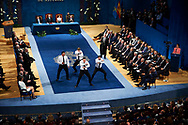 King Felipe VI of Spain, Queen Letizia of Spain, Steve Tew, Grant Fox, Keven Mealamu, Conrad Smith, Israel Dagg, Jordie Barrett from All Blacks attended the 'Princesa de Asturias Awards 2017 (Princess of Asturias awards)' ceremony at the Campoamor Theater on October 20, 2017 in Oviedo, Spain.