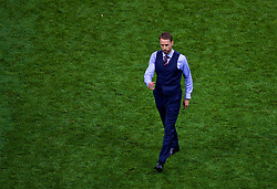 MOSCOW, RUSSIA - Wednesday, July 11, 2018: England's manager Gareth Southgate after 90 minutes during the FIFA World Cup Russia 2018 Semi-Final match between Croatia and England at the Luzhniki Stadium. (Pic by David Rawcliffe/Propaganda)