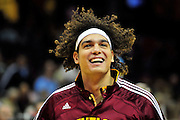 Oct. 30, 2010; Cleveland, OH, USA; Cleveland Cavaliers power forward Anderson Varejao (17) prior to the game between the Cleveland Cavaliers and the Sacramento Kings at Quicken Loans Arena. Mandatory Credit: Jason Miller-US PRESSWIRE