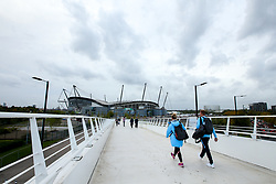 A general view of The Etihad Stadium, home of Manchester City - Mandatory by-line: Robbie Stephenson/JMP - 19/09/2018 - FOOTBALL - Etihad Stadium - Manchester, England - Manchester City v Lyon - UEFA Champions League Group F
