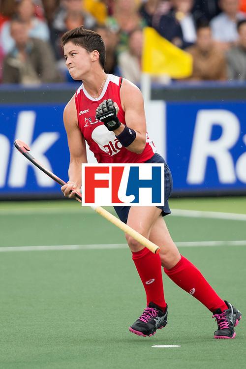 THE HAGUE - Rabobank Hockey World Cup 2014 - 10-06-2014 - WOMEN - USA - SOUTH AFRICA - Caroline Nichols scores 1-0.<br /> Copyright: Willem Vernes