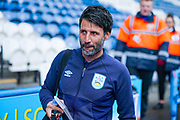 Danny Cowley of Huddersfield Town (Manager) arrives at the ground during the EFL Sky Bet Championship match between Huddersfield Town and Leeds United at the John Smiths Stadium, Huddersfield, England on 7 December 2019.