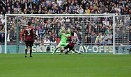 Millwall forward Steve Morison scores during the Sky Bet League 1 play-off final at Wembley Stadium, London<br /> Picture by Glenn Sparkes/Focus Images Ltd 07939664067<br /> 20/05/2017