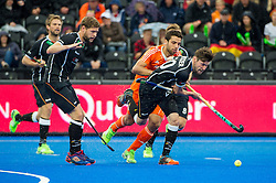 Germany's Martin Zwicker comes away with the ball. The Netherlands v Germany - Final Unibet EuroHockey Championships, Lee Valley Hockey & Tennis Centre, London, UK on 29 August 2015. Photo: Simon Parker