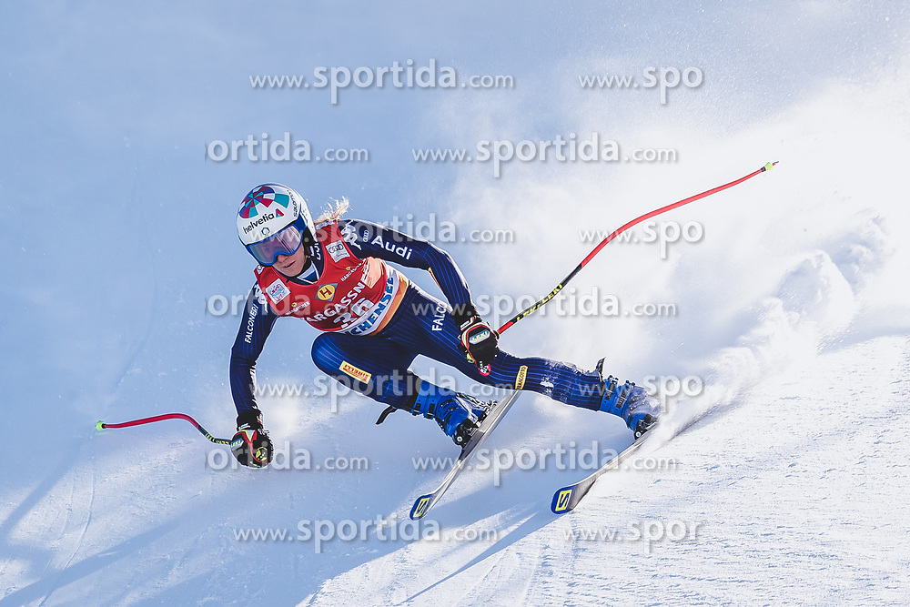 10.01.2020, Keelberloch Rennstrecke, Altenmark, AUT, FIS Weltcup Ski Alpin, Abfahrt, Damen, 2. Training, im Bild Marta Bassino (ITA) // Marta Bassino of Italy in action during her 2nd training run for the women's Downhill of FIS ski alpine world cup at the Keelberloch Rennstrecke in Altenmark, Austria on 2020/01/10. EXPA Pictures © 2020, PhotoCredit: EXPA/ Johann Groder