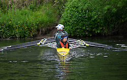 © Licensed to London News Pictures.13/06/15<br /> Durham, England<br /> <br /> A rowing crew moves into position during the 182nd Durham Regatta rowing event held on the River Wear. The origins of the regatta date back  to commemorations marking victory at the Battle of Waterloo in 1815. This is the second oldest event of this type in the country and attracts over 2000 competitors from across the country.<br /> <br /> Photo credit : Ian Forsyth/LNP
