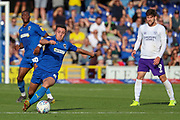 AFC Wimbledon midfielder Anthony Hartigan (8) dribbling during the EFL Sky Bet League 1 match between AFC Wimbledon and Shrewsbury Town at the Cherry Red Records Stadium, Kingston, England on 14 September 2019.