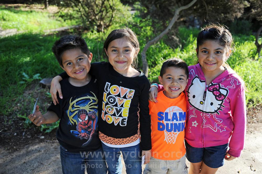 From left, Matthew and Kamyla Cruz Mendoza, with Adan and Cierra Espinoza in Salinas' Natividad Creek Park.