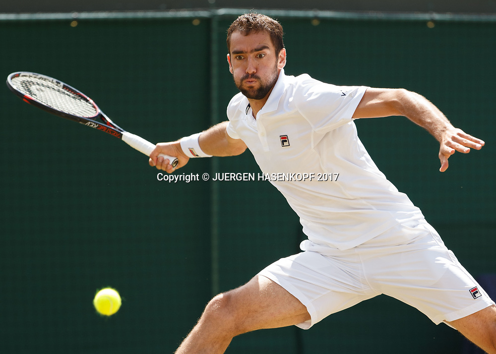 MARIN CILIC (CRO)<br /> <br /> Tennis - Wimbledon 2017 - Grand Slam ITF / ATP / WTA -  AELTC - London -  - Great Britain  - 12 July 2017.
