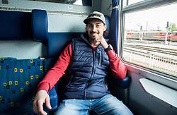 Klemen Pretnar during departure to Budapest of Slovenian Ice Hockey National Team, on April 17, 2017 in Railway station, Ljubljana, Slovenia. Photo by Vid Ponikvar / Sportida
