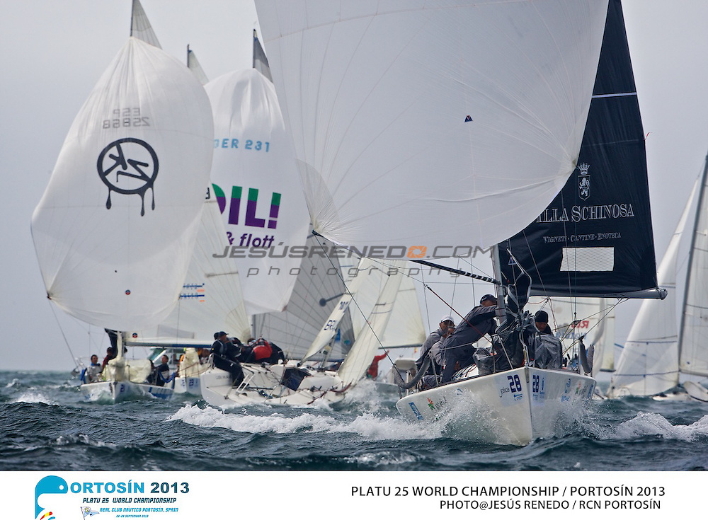 Platu 25 World Championships, Portosín , Galicia, Spain. 24-29 September 2013 , final day  ©