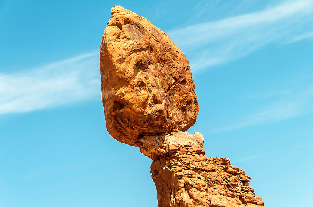 Balanced Rock, Arches National Park, Utah. Height of 55 feet (17 meters) and weight  3500 tons.