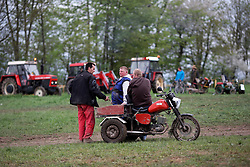 CZECH REPUBLIC VYSOCINA NEDVEZI 9MAY15 - Tractor festival 'Traktoriada' in the village of Nedvezi, Vysocina, Czech Republic. Turnout was surprisingly large with over 100 tractors and hundreds of spectators to this event, held for the second time.<br /> <br /> jre/Photo by Jiri Rezac<br /> <br /> © Jiri Rezac 2015
