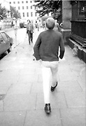 Dean Spencer on Oxford Street, London. 1980s.
