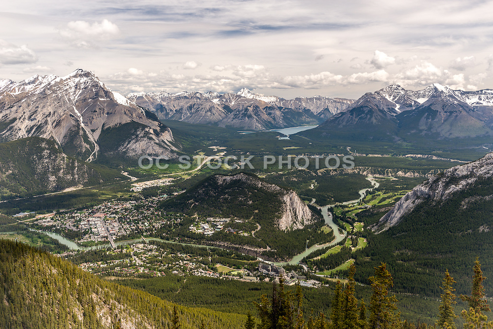 Banff Town Site from Observation Decks on Sulphur Mountain
