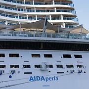 NLD/Rotterdam/20180517 -Cruiseschip ALda Perla aan de kade in Rotterdam