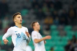 Luka Zahovic of Slovenia during football match between National Teams of Slovenia and Cyprus in Final Tournament of UEFA Nations League 2019, on October 16, 2018 in SRC Stozice, Ljubljana, Slovenia. Photo by  Morgan Kristan / Sportida