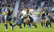 Twickenham, United Kingdom, Billy VUNIPOLA, going for the gap during the  2013 QBE Autumn, Rugby International, England vs Argentina, RFU Stadium Twickenham, on Saturday  09/11/2013 <br /> England. [Mandatory Credit: Peter Spurrier/Intersport<br /> Images]