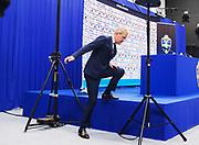 ST NAZAIRE, FRANCE, 2016-06-23<br /> FOTBOLL, EM, LANDSLAG<br /> Erik Hamren h&aring;ller sin sista presskonferens som f&ouml;rbundskapten i St Nazaire, den 23 juni 2016.