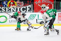 BlazTomazevic of HDD Jesenice during Ice Hockey match between HK SZ Olimpija Ljubljana and HDD Jesenice in Round #24 of Alps Hockey League, on December 22, 2018 in Hala Tivoli, Ljubljana, Slovenia. Photo by Ziga Zupan / Sportida