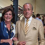 NLD/Amsterdam/20140612 - Hilton Haringparty 2014, Theo Upt Hiddema en partner Gerrie Stevens
