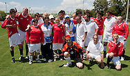 Male's football match 7-a-side between SO Switzerland and SO Norway during 2011 Special Olympics World Summer Games Athens on June 26, 2011..The idea of Special Olympics is that, with appropriate motivation and guidance, each person with intellectual disabilities can train, enjoy and benefit from participation in individual and team competitions...Greece, Athens, June 26, 2011...Picture also available in RAW (NEF) or TIFF format on special request...For editorial use only. Any commercial or promotional use requires permission...Mandatory credit: Photo by © Adam Nurkiewicz / Mediasport