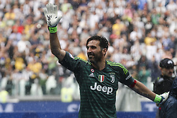 May 19, 2018 - Turin, Italy - Juventus goalkeeper Gianluigi Buffon (1) greets Juventus supporters during his last football match JUVENTUS - VERONA on 19/05/2018 at the Allianz Stadium in Turin, Italy. (Credit Image: © Matteo Bottanelli/NurPhoto via ZUMA Press)