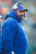 Minnesota Vikings coach Dennis Green watches from the sidelines during an NFL football game against the Green Bay Packers, Sunday, Dec. 30, 2001, in Green Bay, Wisc. The Packers defeated the Vikings 24-13.