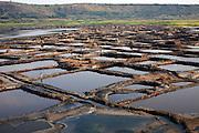 The salt pans of Lake Katwe, Uganda.