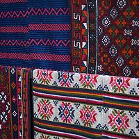 Asia, Bhutan, Bumthang. Textiles of Bhutan.