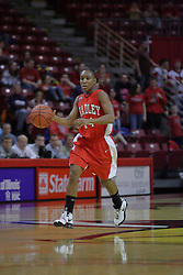 26 February 2009: Skye Johnson. The Braves of Bradley  and the Illinois State Redbirds battled it out on Doug Collins Court inside Redbird Arena on the campus of Illinois State University, Normal Il.