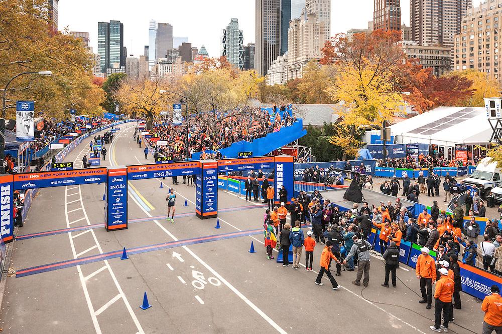 ING New York CIty Marathon: Bob Tahri, France, crosses finish line