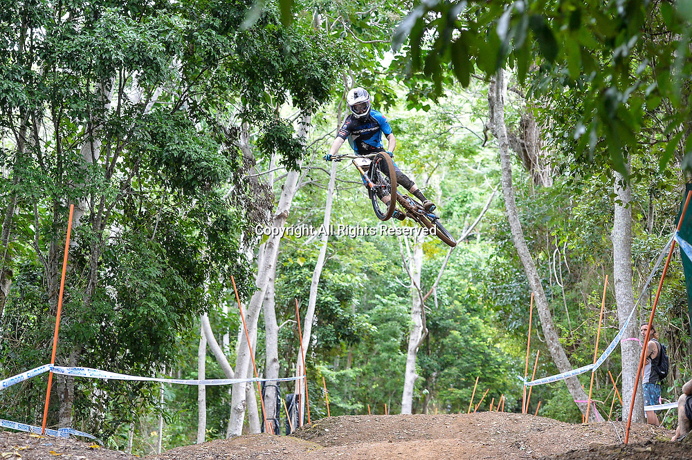 22.04.2016. Cairns,Australia. UCI Mountain Bike World Cup. Downhill qualifying. Danny Hart from Great Britains riding for the MS MONDRAKE during practice.