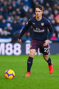 Denis Suarez of Arsenal (22) in action during the Premier League match between Huddersfield Town and Arsenal at the John Smiths Stadium, Huddersfield, England on 9 February 2019.