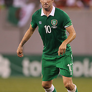 Robbie Keane, Ireland, in action during the Portugal V Ireland International Friendly match in preparation for the 2014 FIFA World Cup in Brazil. MetLife Stadium, Rutherford, New Jersey, USA. 10th June 2014. Photo Tim Clayton