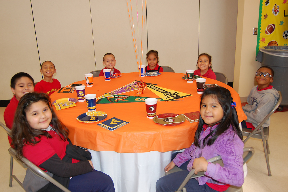 Highland Heights students who were selected as a Student of the Week by their teachers between September and December were celebrated at a college-themed luncheon in their honor. Each student had a college place setting, dined on pizza, and made a special visit to a chocolate fountain to make chocolate-covered marshmallows.<br />