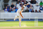 Brett Hutton of Nottinghamshire bowling during the Specsavers County Champ Div 1 match between Somerset County Cricket Club and Nottinghamshire County Cricket Club at the Cooper Associates County Ground, Taunton, United Kingdom on 22 September 2016. Photo by Graham Hunt.