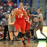 HARTFORD, CONNECTICUT- DECEMBER 19: Makayla Waterman #24 of the Ohio State Buckeyes in action during the UConn Huskies Vs Ohio State Buckeyes, NCAA Women's Basketball game on December 19th, 2016 at the XL Center, Hartford, Connecticut (Photo by Tim Clayton/Corbis via Getty Images)