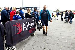 Chris Pennell of Worcester Warriors arrives at The AJ Bell Stadium for his side's Gallagher Premiership fixture against Sale Sharks - Mandatory by-line: Robbie Stephenson/JMP - 09/09/2018 - RUGBY - AJ Bell Stadium - Manchester, England - Sale Sharks v Worcester Warriors - Gallagher Premiership